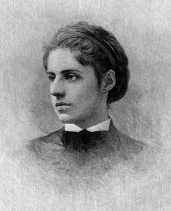 A drawing of Emma Lazarus.
