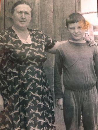 Etcia Goldberg with her grandson, Valeriy Gritsiv, in 1965.