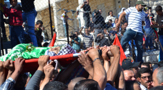 Mourned: 14-year-old Orwa Hammad died during clashes with the military in the West Bank. Hamas, Fatah and the Popular Front for the Liberation of Palestine called him a martyr.