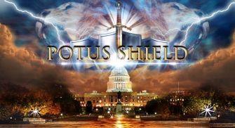"""Image promotionnelle pour le """"bouclier de prière"""" de Frank Amedia pour le président."""
