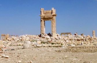 The remains of the Temple of Bel after destruction by ISIS
