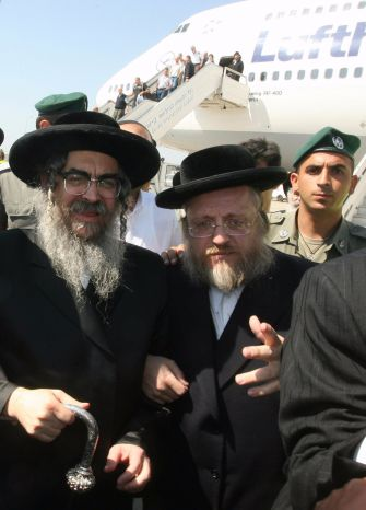 Grand Rabbi Aaron Teitelbaum, left, in 2007, warned in stark terms against a bill to enforce education laws. // Getty Images