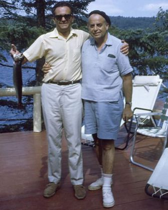 Good Times: The author's grandfather holds a fish with Harry Etscovitz at the cabin in Eagle Lake, Maine, in the late 1960s.