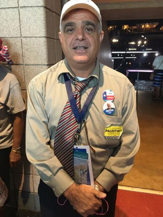 Hatem Natsheh, a Bernie Sanders supporter, at the Democratic national convention in Philadelphia