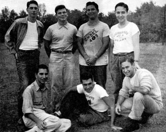 American Jewish Historical Society Longstanding Pride: AEPi representatives gather  at Camp High Point, N.Y. in 1950 for a meeting at the National Hillel Institute.
