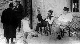 Jewish men on the Aegean island of Rhodes.