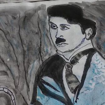 "Blue Hitler: Filmmaker Nasya Kamrat describes the style of her grandfather's paintings as ""European folk art."""