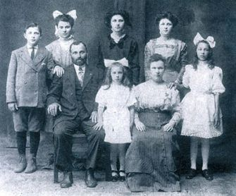 Memories: Hurwit wrote his symphony to reflect the struggles that his mother?s family, the Milkowitzes (above c. 1912), endured.