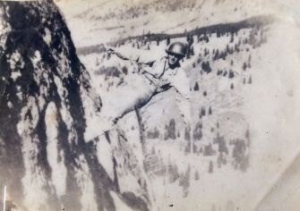 Top of the World: Morrison circa 1943. He received a Bronze Star for his service in World War II.