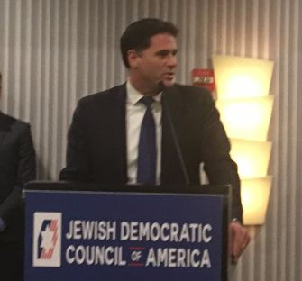 Israeli ambassador Ron Dermer at the Jewish Democratic Council of America, November 8, 2017