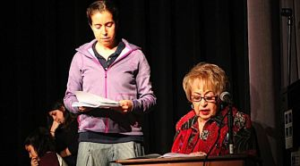 Performance To Remember:  Rena Nudel (right) narrates her story with Sally Shatzkes.
