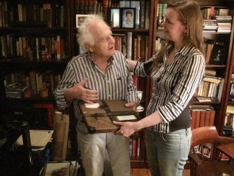 Only Surviving Print: Jack Garfein holds a copy of 'On the Harmfulness of Tobacco.'