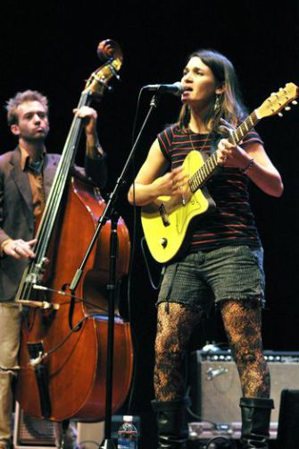 Girls in Trouble: Alicia Jo Rabins performed at a showcase for emerging Jewish artists.