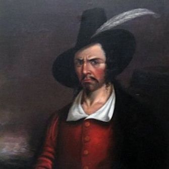 Bearded and Feathered: This artwork by an unknown painter is thought to depict Jean Lafitte.