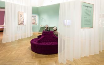 Behind the Curtains: The exhibit runs until October 2015 at the Jewish Museum Vienna.