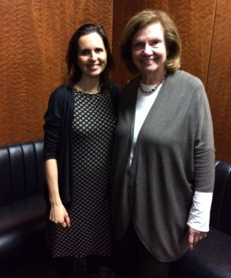 Working Together: Sara Kabakov with Rep. Margaret Markey, the champion of the Child Victims Act.