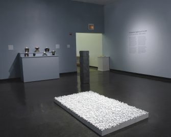 """""""M'AHL"""" appears as part of Tobi Kahn's 2011 installation """"Embodied Light: 9-11 in 2011"""" at New York's Educational Alliance."""