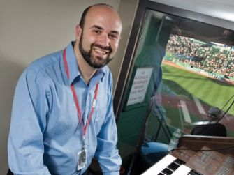 Josh Kantor, organist for the Boston Red Sox