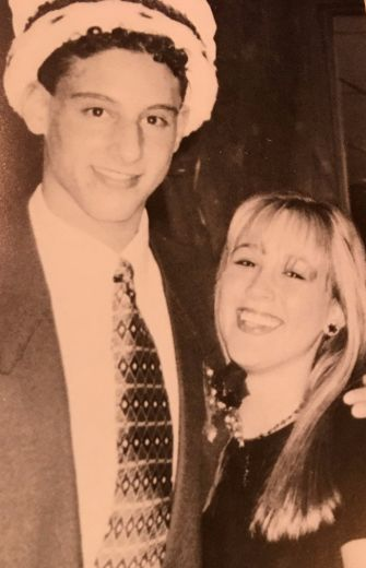 Mandel and his date, as featured in the Beachwood High School yearbook