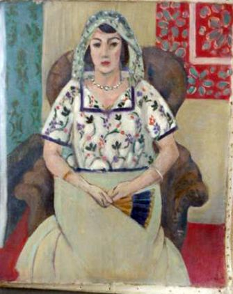 "Henri Matisse's ""Woman Sitting in a Chair,"" part of the Gurlitt art hoard."