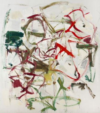 "Joan Mitchell ""Untitled"" ca. 1958 – 1959. Oil on canvas and board 197.5 x 174 cm / 77 3/4 x 68 1/2 in"