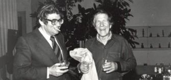 Morton Feldman and John Cage at the University of Buffalo