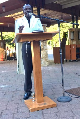 Mugoya Shadrach Levi, spiritual leader of the Abayudaya of Uganda