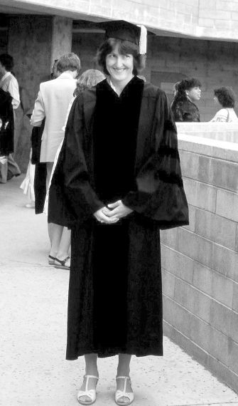 The author at her graduation.