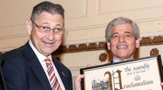 Sheldon Silver with Willie Rapfogel