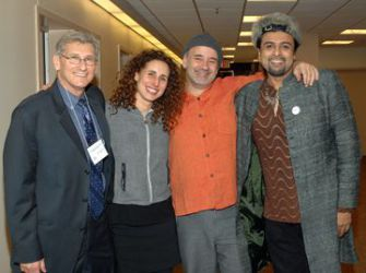 Common Chords: Mark Rosenblum, left, joins musicians Basya Schechter, Emilio Solla and Salman Ahmad.