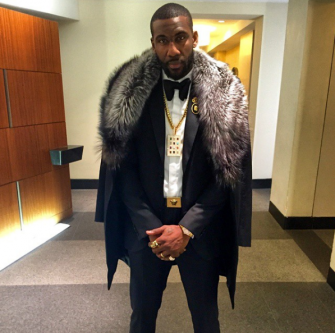 Stoudemire poses in an Instagram photo, wearing a fur and a piece of jewelry modeled on the priestly breastplate of ancient Israelites.