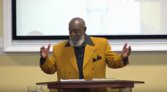 Pastor Henry Buie, founder of the Hebrew Israelite group Israel of God preaches in Chicago.