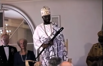 Francois Ayi at his 1994 enthronement ceremony in Washington D.C.