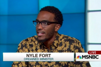 Nyle Fort, a young minister, supports the Movement for Black Lives platform fully.