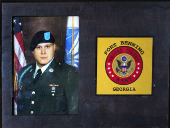 Braff in military uniform during his in service in the Army.