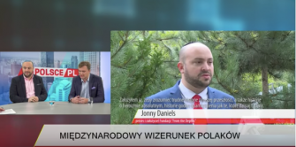 In an October 17 appearance on Telewizja WPolsce,Daniels urged Poland to seek reparations from Germany, as Israel had, for Germany's invasion of the country in World War II.