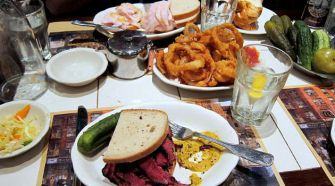 A feast at the Second Avenue Deli