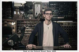 Runs In The Family: Zack Moscot at the family's Orchard Street Store in 2013.