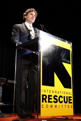 Jonathan Soros, the son of mega-donor George Soros, speaks at an event.