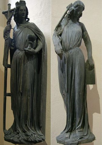 Unflattering Portrait: The original Ecclesia and Synagoga from the portal of Strasbourg Cathedral.