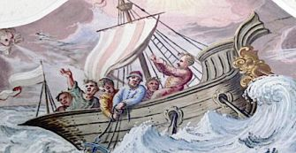 After Sukkot: The calm Mediterranean became stormy and unreliable for antique shipping during the fall season.