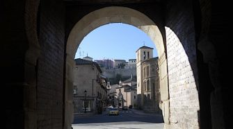 Streets: A view of the ancient city of Toledo.