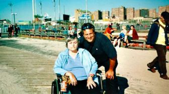 On the Boardwalk: Joseph Arrigo loved to take his grandmother Sylvia Sodden (seen here in 2007) for walks along the boardwalk at Coney Island, Brooklyn.