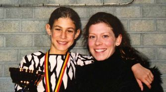 Jason Brown and his coach, Kori Ade.
