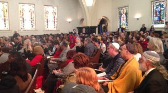United for Justice: Jews gather at Congregation Mishkan Israel in Selma.