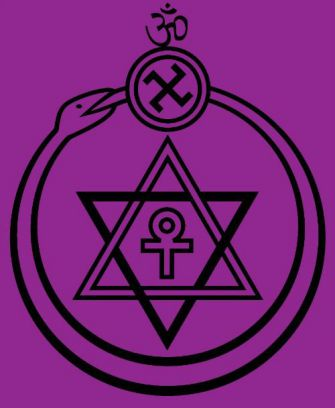Strange Seal: The Theosophical Society logo.