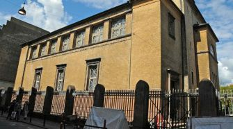 Three people were wounded early Sunday in a shooting outside the Great Synagogue in Copenhagen.