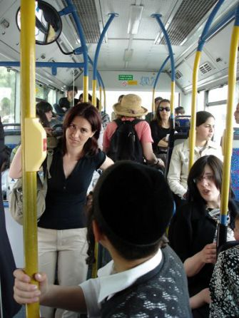 Back Of The Bus: Women must ride the back of the bus and men ride up front on several public transportation routes heavily patronized by Orthodox Jews in Israel. The recent development has sparked some protests, but on board the buses even secular riders comply.
