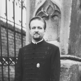 Early Loyalty: In an undated photo, the young Gorka wears a Vitézi Rend medal pinned to the traditional-style formal coat favored by Hungary's right-wing nationalists, as he did during Trump's inauguration years later.