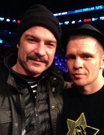 The actor Liev Schreiber with boxer Yuri Foreman.